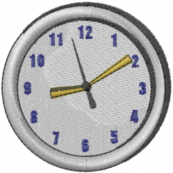 Clock Face embroidery design