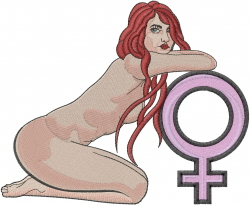 Female Sex Symbol embroidery design