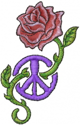 Peace And Roses embroidery design