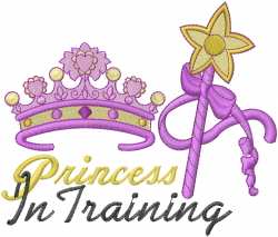 Princess In Training embroidery design