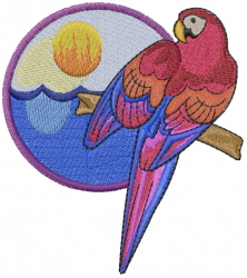 Tropical Bird embroidery design