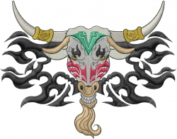 Texas Longhorn embroidery design