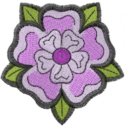 Yorkshire Flower embroidery design