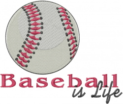 Baseball Is Life embroidery design