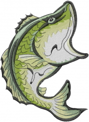 Big Bass embroidery design