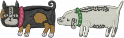 Dogs Love embroidery design