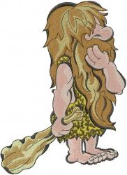 Dumb Caveman embroidery design