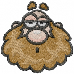Caveman Head embroidery design