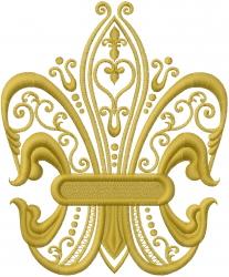 Fleur Di Lis embroidery design
