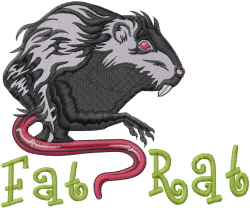 Fat Rat embroidery design