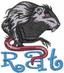 Rat embroidery design