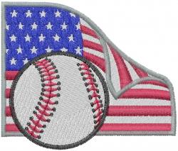American  Baseball embroidery design