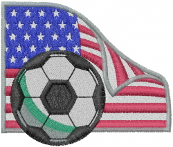 American Soccer Ball embroidery design