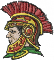 Spartans embroidery design