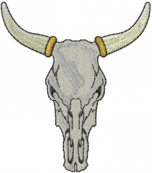 Bull Skull embroidery design