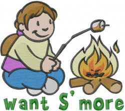 Want Smore embroidery design