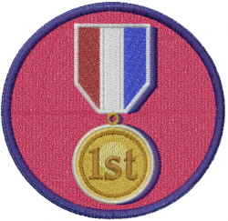 Sports Medal embroidery design
