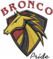 Bronco Pride embroidery design