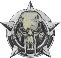 Monster Skull embroidery design