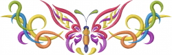 Colorful Butterflly embroidery design