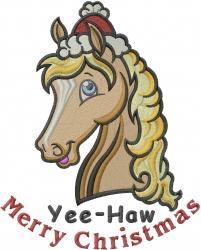 Yee-Haw embroidery design
