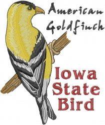 Iowa State Bird embroidery design