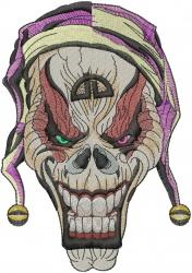 Joker Skull embroidery design