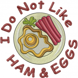 Ham And Eggs embroidery design