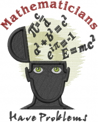 Mathematicians embroidery design