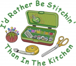 Rather Be Stitchin embroidery design