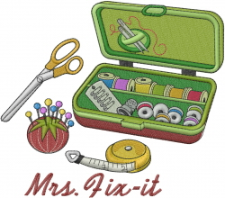 Mrs Fix It embroidery design
