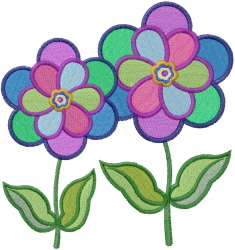 Windmill Flowers embroidery design