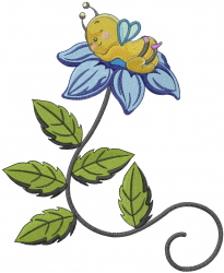 Cute Baby Bee embroidery design