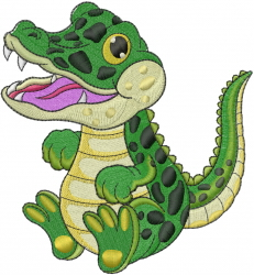 Little Crocodile embroidery design