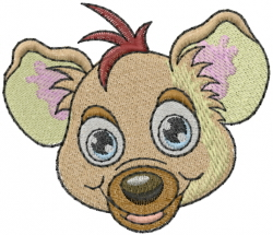 Hyena Head embroidery design