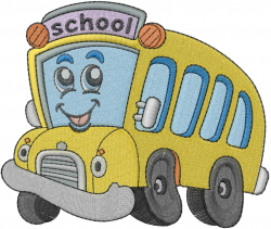 School Bus Embroidery Designs Machine Embroidery Designs