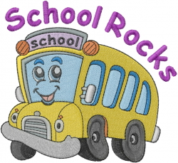 School Rocks embroidery design