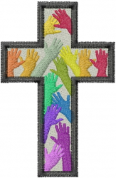 Diversity Cross embroidery design