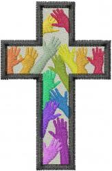 Diversity Cross embroidery design