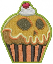 Halloween Cupcake embroidery design