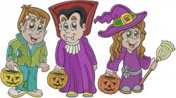 Halloween Kids embroidery design