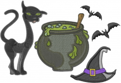 Witches Stuff embroidery design