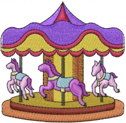 Merry Go Round embroidery design