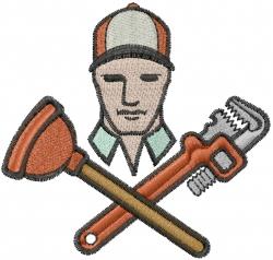 Plumber Logo embroidery design