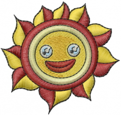 Silly Sun embroidery design