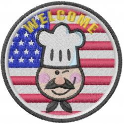 American Chef embroidery design