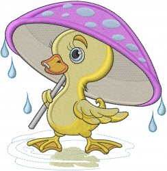 Baby Duck embroidery design