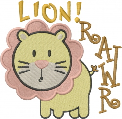 Rawr embroidery design