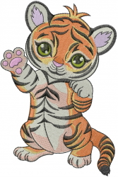 Little Tiger embroidery design