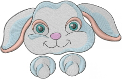 Bunny Head embroidery design